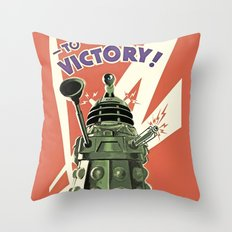 Daleks To Victory - Doctor Who Throw Pillow