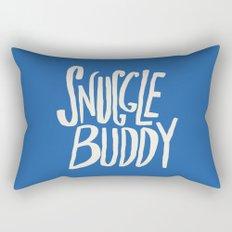 Snuggle Buddy x Blue Rectangular Pillow