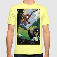 Kid Spidey Mens Fitted Tee Lemon SMALL