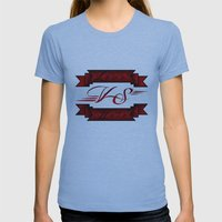 Love VS Hate Womens Fitted Tee Athletic Blue SMALL