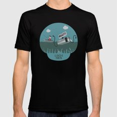 Loch NES V.2 Black SMALL Mens Fitted Tee