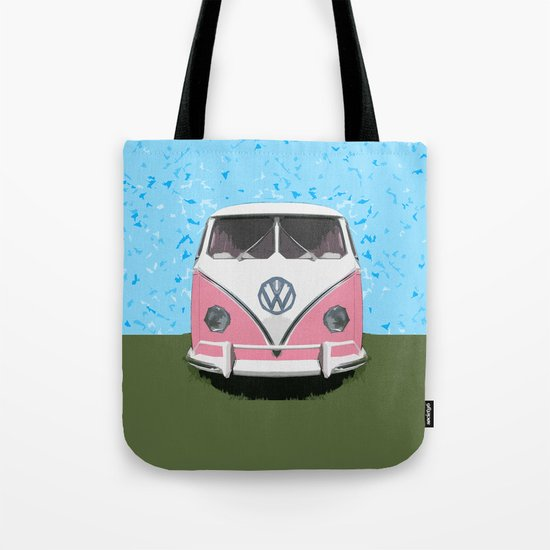 VW Kombi Love van Tote Bag