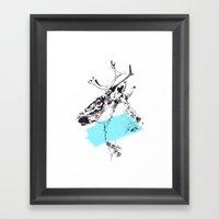 Bleu Boréal Framed Art Print