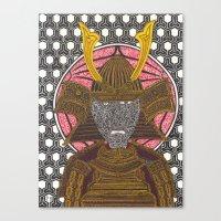 Bee the Samurai Canvas Print