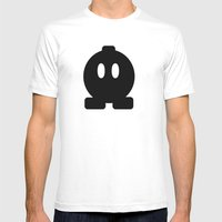 Bom Omb Mens Fitted Tee White SMALL