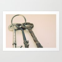 Skeleton Keys Art Print