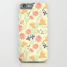 Autumn Floral Pattern Slim Case iPhone 6s