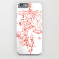 iPhone & iPod Case featuring Abstract Lines, Linear Pyramid Space by Futurism_