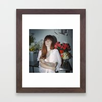 Hattie Floral Framed Art Print