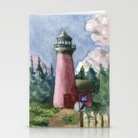 Cozy Lighthouse Stationery Cards