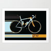 bike Art Prints featuring Bike by Wyatt Design