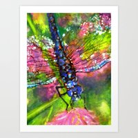 Title: painting - Dragonfly Art Print