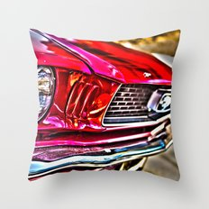 Mustang on Hollywood Hills Throw Pillow