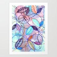 trajectories Art Print