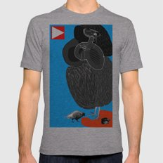 Ruthless Pigeon  Mens Fitted Tee Athletic Grey SMALL