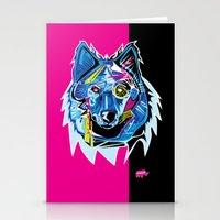 Lazer Wolf Stationery Cards