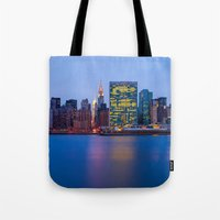Beginning of the night over Manhattan Tote Bag