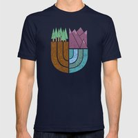 Mountain Crest Mens Fitted Tee Navy SMALL