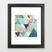 Graphic 3 blue Framed Art Print