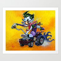 Hot Rod JOKER! Art Print