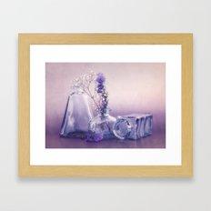 PURPLE STILL LIFE Framed Art Print