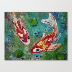 Koi Pond 2 Canvas Print