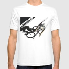 TRAVELING AT THE SPEED OF BIKE Mens Fitted Tee SMALL White