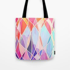 Purple & Peach Love - abstract painting in rainbow pastels Tote Bag
