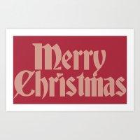 Merry Christmas Candice … Art Print