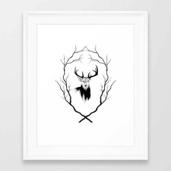 DEER REVISITED Framed Art Print
