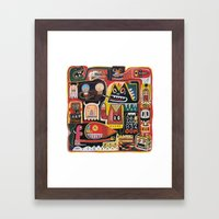Mutant Pop Corn Framed Art Print