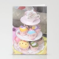 Cupcake Tower Stationery Cards