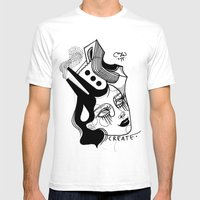 Skateopolis Mens Fitted Tee White SMALL