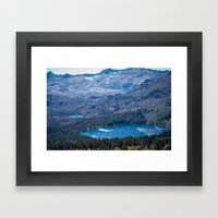 Mountain Top Lakes Framed Art Print