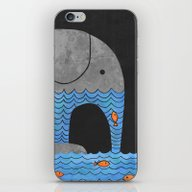 Thirsty Elephant  iPhone & iPod Skin