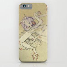 The lady and the wild cat. iPhone 6 Slim Case
