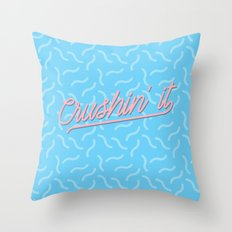 Crushin It Blue Squiggles /// www.pencilmeinstationery.com Throw Pillow