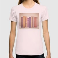 Literary Gems II Womens Fitted Tee Light Pink SMALL
