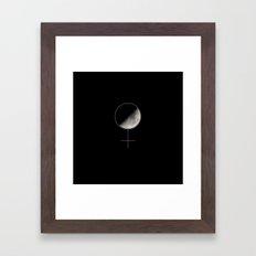Moon and Woman Symbol Framed Art Print