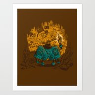 Art Print featuring THE ARCHEO-GAME-OLOGIST by Letter_q