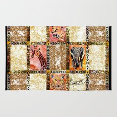 Quilted African Life. Rug
