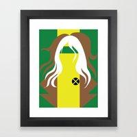 Rogue - Minimalist - X-Men Framed Art Print