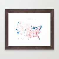 Election Mapping 2008 Framed Art Print