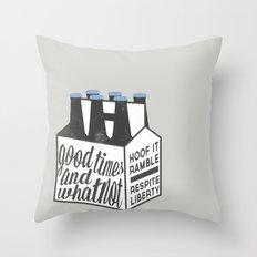 Good Times & Whatnot Throw Pillow