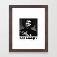 Famous musician Framed Art Print