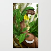 Canvas Print featuring Leaf Storm! by DsgnrTyler