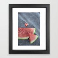 Everybody Loves Watermel… Framed Art Print