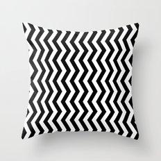 PATTERN#01 =STRIPES/BLACK+WHITE= Throw Pillow
