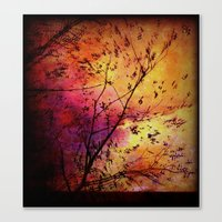 The storm (later that very evening) Canvas Print