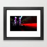 speed of nyc Framed Art Print
